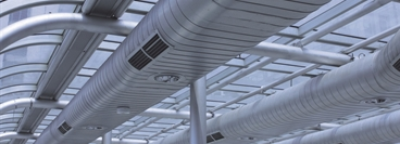 Picture of air conditioning ventilation system from an industrial or commercial installation